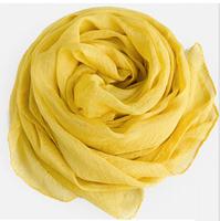 Chiffon and scarf  turmeric