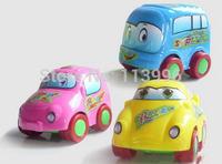 Free shipping 3pcs/lot Pull Back Car Toys Car Children Racing Car Baby Mini Cars Cartoon Educational Toys cute toys