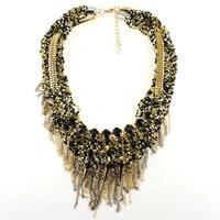 2015 Fashion Z Necklace Choker Necklaces For Women Collar Bib Necklaces & Pendants Tassels Costume Chain Statement Necklace 2014