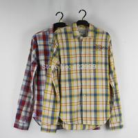 2015 new pepe jeans men shirt male 100% cotton sanded trend plaid flannel shirt fashion shirt 2 colors plus size  XS-XL