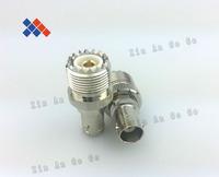 5PCS UHF-K SO239  to BNC-K connector  Free  Shiping
