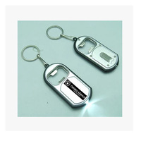 New free shipping 1000pcs metal+abs bottle opener with led light cheap promotion gifts customed logo