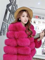 Free shipping 2015 winter warm fox Fur short design faux fox fur coat quality women's long sleeve fur jacket l1434