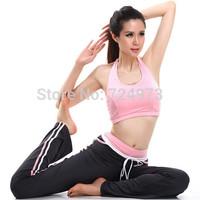 Long pant+Vest design hot sale women summer spring outdoors yoga tracksuits,slim fit breathable elastic brand jogging suits