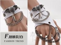 free shipping (min order 10USD) nerw design fashion cool wind punk bracelet /gloves