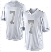 New Football White Platinum Jerseys #7 Jersey Niners  49 ers  Platinum  Limited Jerseys  Stitched Mix Match Order