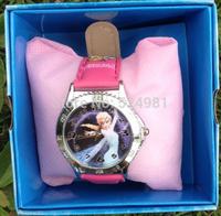 free shipping 1pcs frozen box watch kids fashion quartz cartoon with box Cute Fly Girl