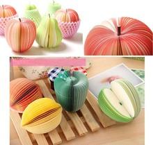 10 фрукт каваи creative примечание бумага канцелярские фрукт овощ памятка колодки бумага блокнот своими руками 1 пк