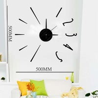 DIY Modern Fashion Creative Wall Clock Paste EVA Paste Number and Line  Decoration Clock
