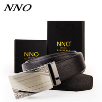 Available 105-125CM High Quality Cowskin Genuine Leather Men's Belt Automatic Buckle Business Leather Belt Strap Waist Belts
