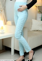Big Promotion!2015 spring and summer maternity trousers pregnant women full length belly pants butterfly printed skinny pants