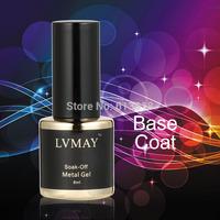 Choose 6PCS From Special  Metal gel  UV gel nails soak-off  Metallic gel TOP coat +Base Coat +Reinforce Gel