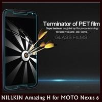 NILLKIN Amazing H Nanometer Straight Anti-burstTempered Glass Flilm for MOTO Nexus 6 XT1100 XT1103 +30 pcs/lot DHL Free shipping