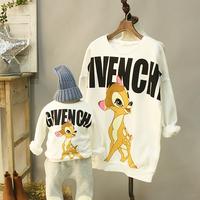 605 Korean children's clothing cute Korean boy sweater plus thick velvet deer Acting on behalf of Wei Yi Wei letter