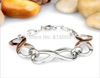 Minimalist fashion bracelet silver women girl titanium bracelet creative high-grade stainless steel jewelry