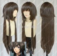 FSX5985Q>>Muv-Luv ATE Fashion Long Dark brown COSPLAY Wig 100CM