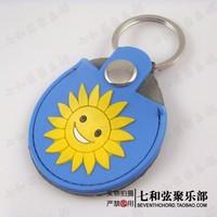 sunshine delicate real leather guitar pick bag/pick clip/pick paddle