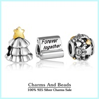 Authentic 925 sterling silver christmas family charm sets fashion jewelry sets fit famous brand charm bracelets diy design NS49