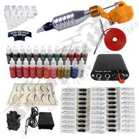 whole SALE ! Hawk Rotary Tattoo Machine Gun Kit Permanent Makeup Pen+ Power Supply+50 pcs Needles + 23 ink free shipping
