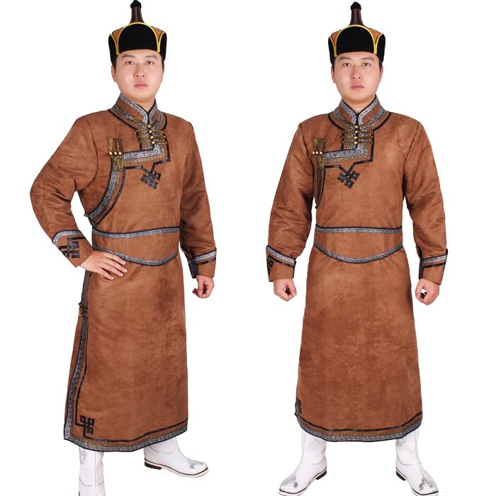 Deerskin Clothing Men Mongolian Robe Mens Clothes