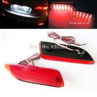 2pcs Red Lens LED Bumper Reflector For Lexus CT200h Toyota Corolla Rear Brake Light