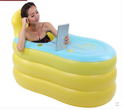 inflatable bed bathtub