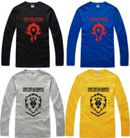 Free Shipping Chinese Size S---XXXL dota t shirt game t shirt long sleeve Alliance horde  tee shirt game dota tops 100% cotton