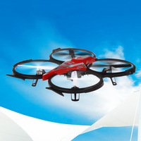HOT SELL! F182 RC Quadcopter 2.4GHz 6 Axis Gyro UFO/ Aircraft RC Helicopter with Camera & LED Light RTF Drones FSWB