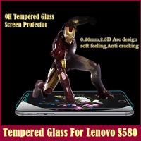 2014 New Lenovo S580 Film Premium Tempered Glass Screen Smart Phone Protector Explosion Proof Clear Toughened Protective Film
