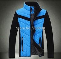 2015 new fashion slim men's jacket Casual men's coat Removable sleeves mens clothing men's vest plus size cotton coat 3509 blue