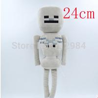 24cm Hot Sale Minecraft Dolls Minecraft MC Plush toys Creeper Stuffed Toys Baby toys Skeleton T76U