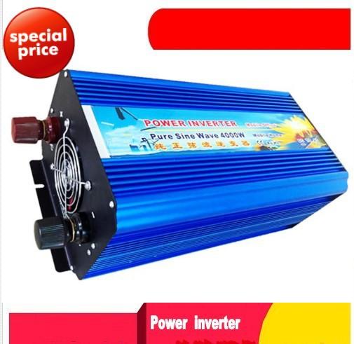4000w dc 24v to ac 220v power inverter pure sine wave inverter car inverter off inverter free shipping(China (Mainland))