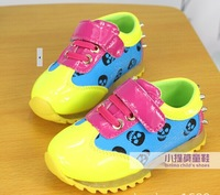 free shipping 2014 new arrive baby boy and girl Contrast color rivet leisure sport shoes