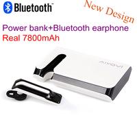 New Wireless  Bluetooth Headset Earphone Headphone with 7800mAh power bank for iPhone Samsung Xiaomi Bluetooth stereo headset