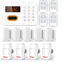 KR-X1 Wireless Intelligent Home Appliances Controlling PSTN ADSL Keypads Home Burglar Alarm System Door PIR Motion Sensor P517