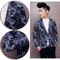 Men Slim Fit Blazer Suit New Arrival Autumn Camouflage Fashion Suit Blazer Brand Design Cotton Business Formal Suit Jacket