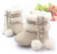 New baby's winter spring cotton warm thickening plush soft bottom snow boots boy's prewalker home comfortable antiskid shoes