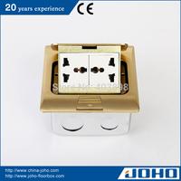 DCT-H28/GB IP44 Waterproof Brass Fast Pop Up Type Floor Box