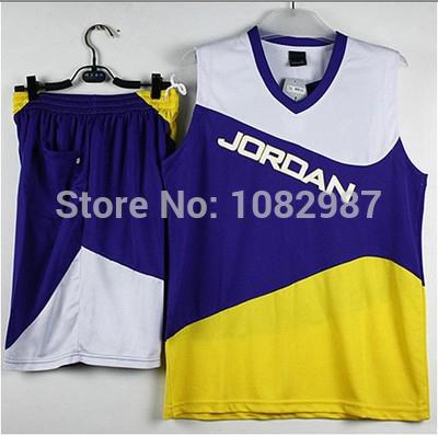 Michael Jordan Men Basketball Kit Set of Jersey & Shorts With Logo Customize Team Name Training Outfit Basketball Pants Uniform(China (Mainland))
