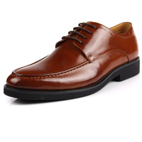 2015 men's shoes business genuine leather pointed toe lacing-up solid color dress wedding shoes handmade high quality dropship