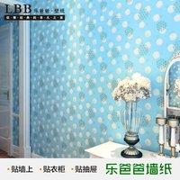 Pvc wallpaper background wallpaper brief modern furniture waterproof blue