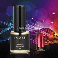 12pcs Mirror shiny UV gel color soak off  nail gel polish Metallic gel Metal Feeling New Fashion trend gel nail
