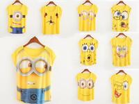 Women printing T-shirt design new yellow T-shirt before printing T - shirt girl casual summer T-shirt women  New fashion T-shirt