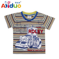 On Sale Ajiduo Fashion Boys Summer T Shirt Car Printed Cotton Children Tops For Boys Casual Kids Clothes Wholesale