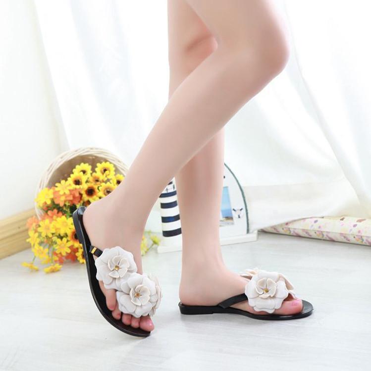 2014 Melissa camillia grande fiore taglia 36-40 cc gelatina di colore profumo di marca sandali fiore femminile flip- flop appartamenti delle donne scarpe