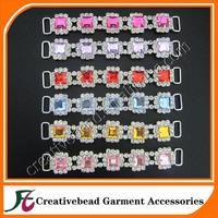 sparkly colorful acrylic rhinestone bikini connector swimwear accessories + free shipping