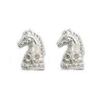 Men Jewelry Collar Pin Silver-tone Horse Head Fleur De Les Collar Tips MXIUX CY037 coupon