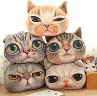 37cm*29cm Cartoon Simulation 3D Cat Nap Pillow Cushion and Pillow Washable Car Waist Pillow Free S shipping,X962