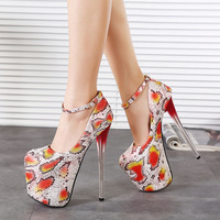 2015 new European style  women pumps 19CM high   Comfortable sexy shoes Serpentine high heels women shoes size(35-40)