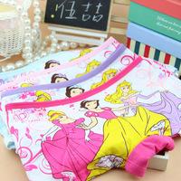 Wholesale 12 pcs--princess Cotton boxer underwear wholesale children lycra cotton underwear of the girls